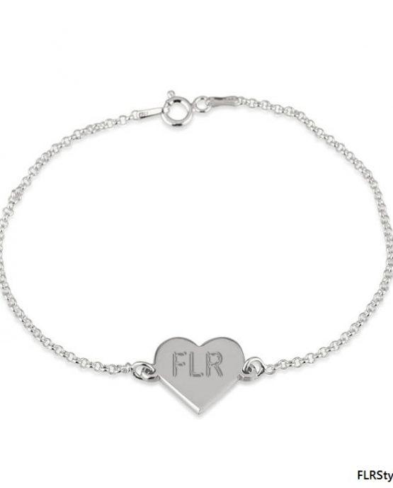 Silver FLR PROMISE Bracelet