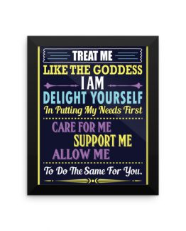 DELIGHT YOURSELF Framed Poster