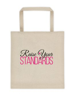 Raise Your Standars Pink/Black Tote Bag