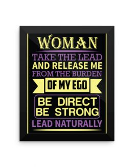 LEAD NATURALLY Framed Poster
