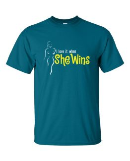 """She Wins"" FLR T-Shirt"