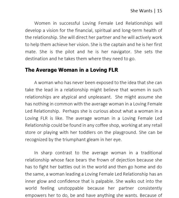 Female led lifestyle