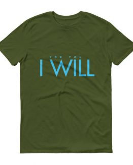 """I Will"" Men's T-Shirt (Blue)"