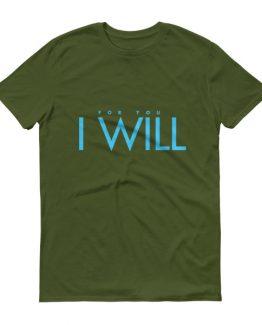 """I Will"" Men's T-Shirt (Blue)"