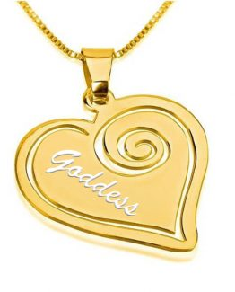 GODDESS HEART GOLD NECKLACE