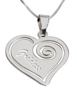 GODDESS HEART SILVER NECKLACE